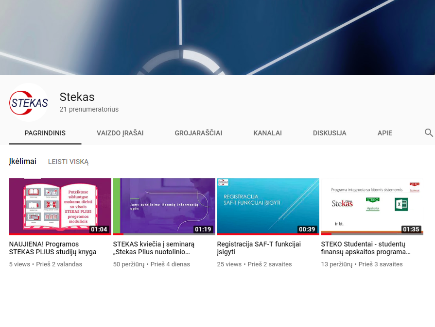 STEKO youtube kanalas